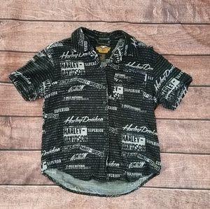Mens Genuine Harley Davidson Button Up shirt